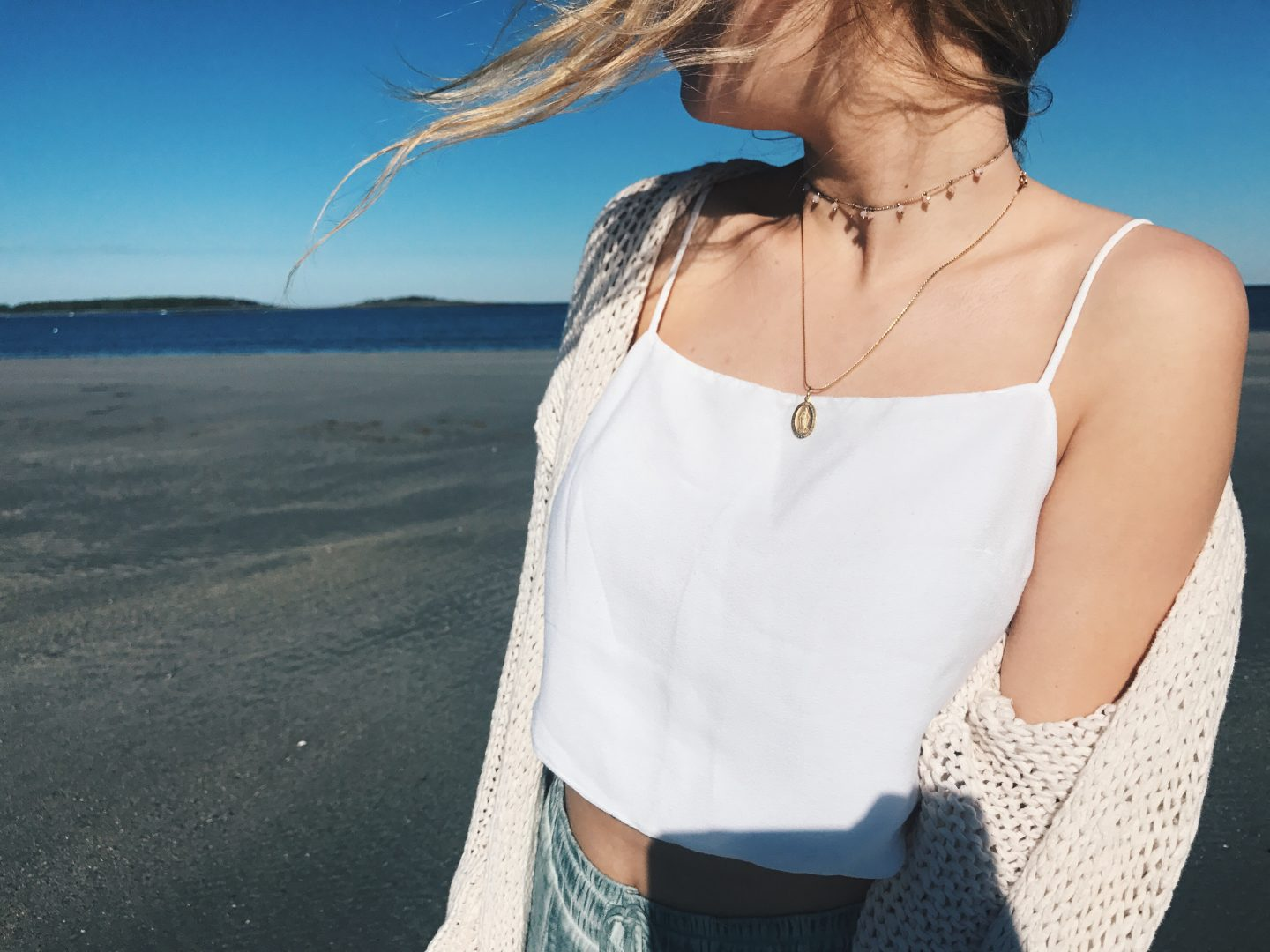 A Chilly Beach Day Look