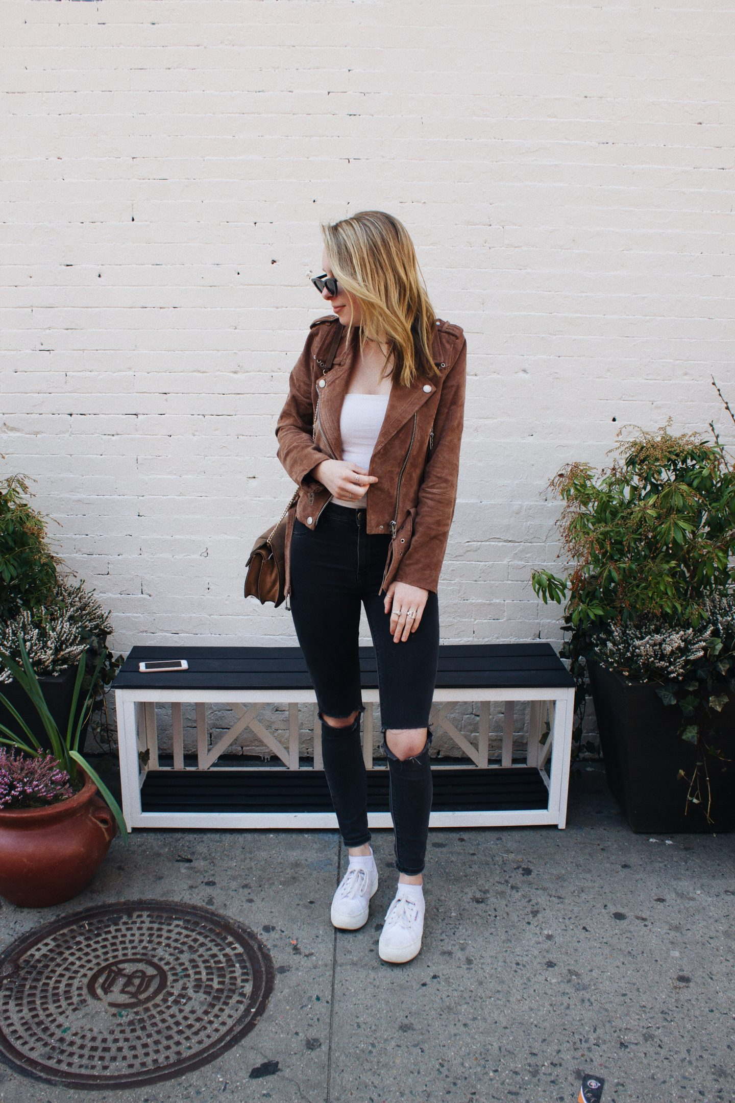 Suede Moto Jackets for Soho